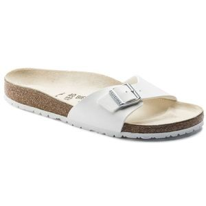 Birkenstock Madrid white leather & white sole